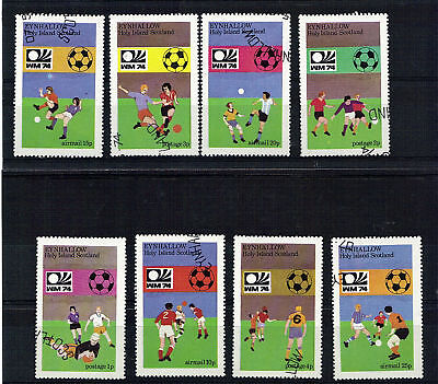 Eynhallow 1974 Football World Cup Set Of All 8 Commemorative Stamps Cto