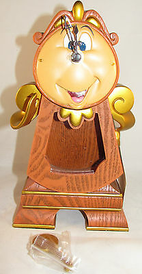 "Disney Parks Beauty and the Beast Cogsworth Working Clock 10"" Figure Brand New"