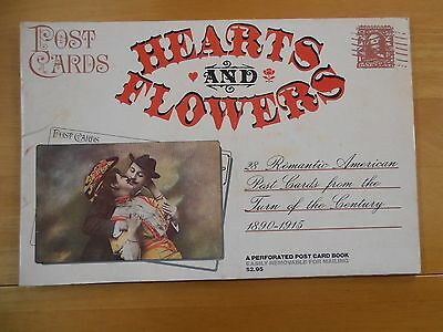"""""""HEARTS AND FLOWERS"""" Postcard Book (American)"""