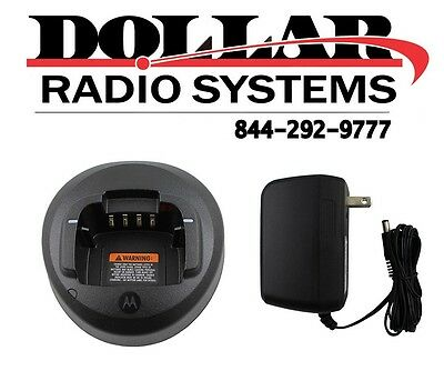 Used Motorola OEM PMLN5228 Rapid Charger Kit for CP185 CP1300 CP1600 Radios