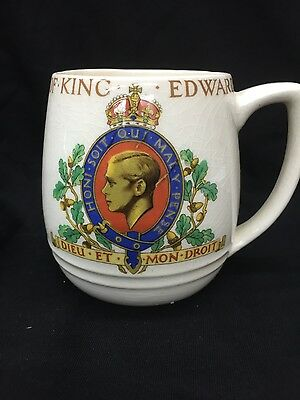 Barker Bros. Solian Ware Coronation of King Edward VIII commerative mug cup 1937