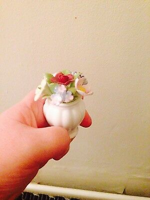 Royal Doulton Vase Of Flowers, Miniature Flowers, Pretty Kitsch