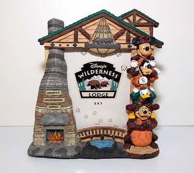 Disney Wilderness Lodge 5x7 Picture Frame Mickey and Friends Totem Pole