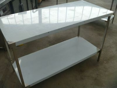 STAINLESS STEEL1400x650x900mm FOOD GRADE 304 COMMERCIAL KITCHEN BENCH/PREP AREA