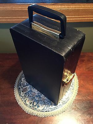 VINTAGE ORIGINAL TRAV-L-BAR BY EVER WEAR PORTABLE BAR WITH CASE Cups Cards