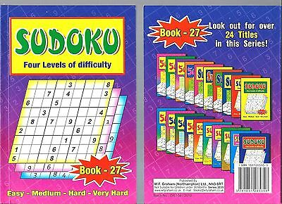 Sudoku Book 110+ Puzzles A5 Size Book Brand 4 Levels Of Difficulty Book 27 New