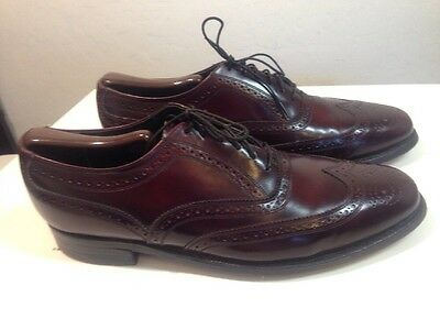 Florsheim Royal Imperial  Wing Tip Size 9D. Cordovan.