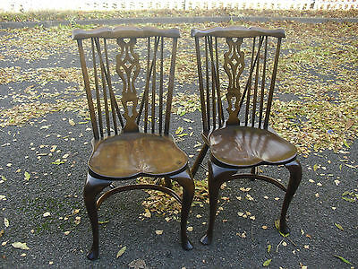 Superb Best QualityPair Of Comb Back Oak & Ash Windsor Chairs