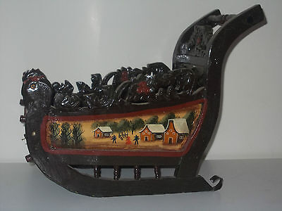 Vintage Dutch Doll's Sleigh Sled Winter in Holland Christmas