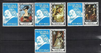Anguilla. Artist Rubens Over Print Easter 1978 Mnh