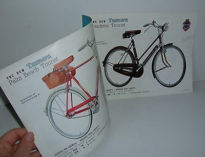 """** VINTAGE 1950s TRIUMPH CYCLE CATALOGUE with PRICES 9"""" x 7"""" **"""