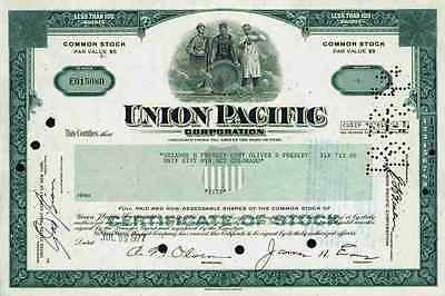 UNION PACIFIC Corp 1977 Omaha Nebraska Chicago New Orleans Texas Less 100 Shares