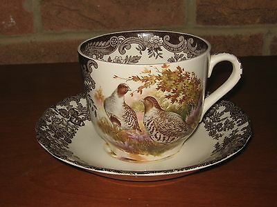Large Royal Worcester Palissy Game Series Cup/saucer Grouse