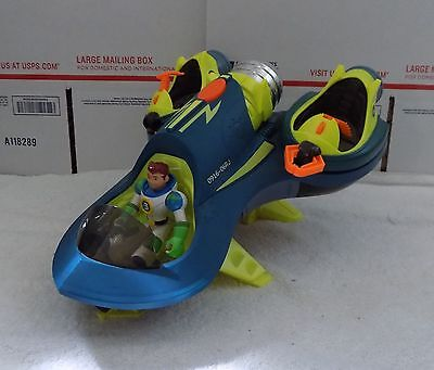 """Fisher-Price PLANET HEROES """"Turbo Shuttle Space Ship w/ Earth Ace""""--SUPER NICE!!"""
