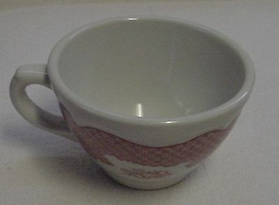 Red Winchester Pattern Old Shenango Restaurant China Cup