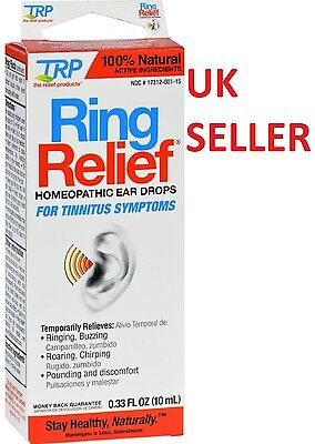 Ring Relief Ear Drops for Tinnitus Treatment Ringing/Buzzing Noise Symptoms Pain