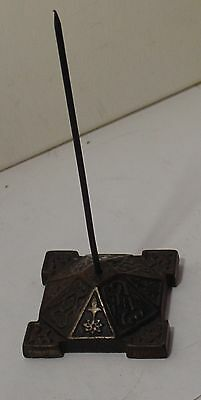 Cast Iron Bill Spike Large Eastlake Ornate Base Detailed Design Steam Punk OLD
