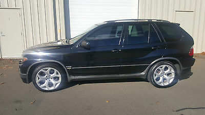 2004 BMW X5 wood 2004 BMW X5 4.8i5 BLACK   355HP L@@K!!!