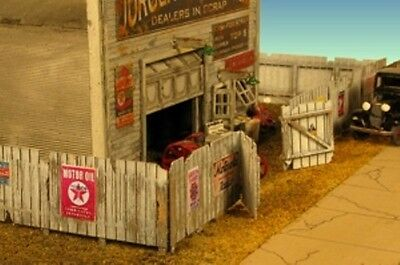 Monroe Models N Scale Trains 9309 Junk Yard Fence Model Railroad Scenery