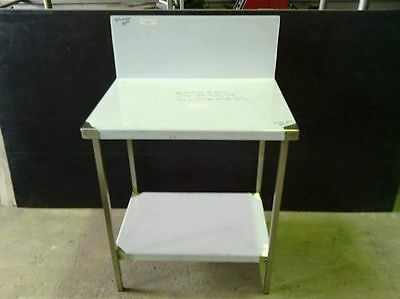 STAINLESS STEEL 800x600mm FOOD GRADE 304 COMMERCIAL BENCH WITH 300mm SPLASH BACK