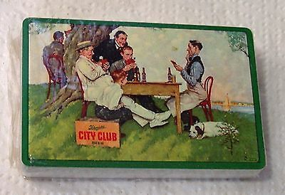 1954 City Club Schmidt Brewery Norman Rockwell Art Playing Cards Sealed Deck