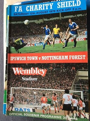Ipswich Town v Nottingham Forest 1978 Charity Shield Programme