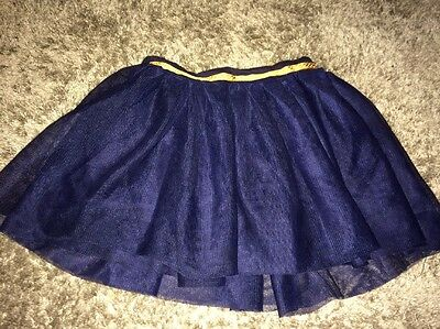 Girls Navy Blue Tutu Party Skirt Age 4-5
