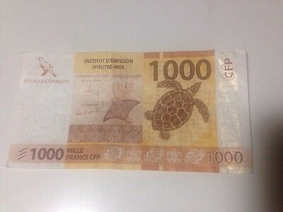 New Caladonia 1000 CFP Bank Note Money Francs NOUVELLE  CALEDONIE Circulated