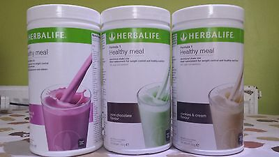 3 tubs Herbalife - Formula 1 Shake (ALL FLAVOURS AVAILABLE) - New & UK