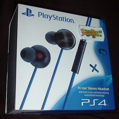 Official Sony In Ear Headphones Playstation 4 PS4 NEW SEALED