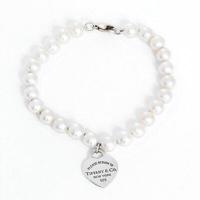 Tiffany & Co. Return to Tiffany Pearl and Sterling Silver Bracelet