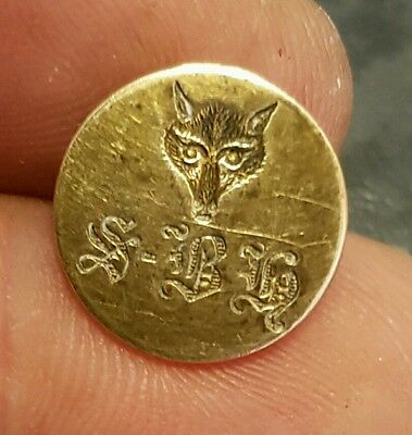 Small Fox hunting button Major Smith-Bosanquet Hunt 1908-35 Enfield Chace Camb