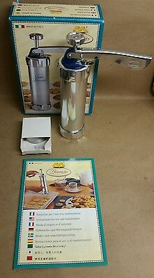 Vintage Marcato Italian Biscuits Holiday COOKIE PRESS - Complete- Recipe Booklet