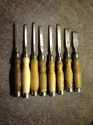 8 Carpenters Mortice Chisels.