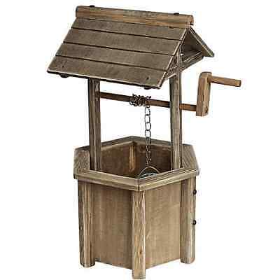 Wooden Wishing Well - wedding accessory - card box - garden planter