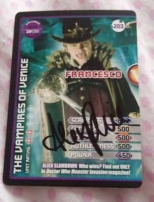 Doctor Who Monster Invasion Francesco Card signed by Alex Price