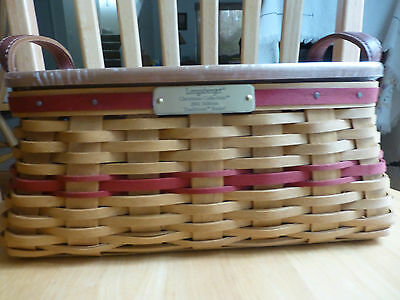 Longaberger Christmas Collection - Traditions Basket 2002 w/lid - FREE SHIP