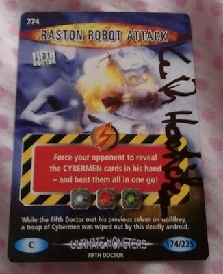 Doctor Who Battles In Time Raston Robot card signed by Keith Hodiak