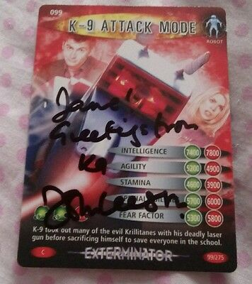 Doctor Who Battles In Time K9 card signed by John Leeson