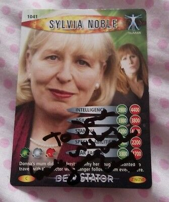 Doctor Who Battles In Time Sylvia Noble card signed by Jacqueline King