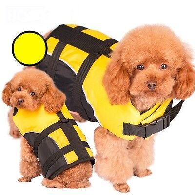 Dog Life Jacket Pets Puppy Safety Outdoor Swimwear Vest Protector W/Leash Ring