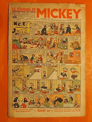 Le journal de Mickey N° 168 du 02/01/1938-Walt Disney. éditions Opera Mundi