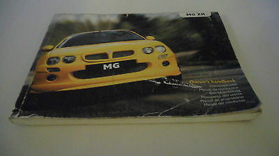 Rover 45 Mg Zr Owners Handbook Service Record