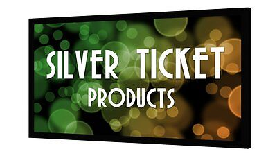 "STR-169150 Silver Ticket 150"" Fixed Frame 16:9 Projection Screen White Material"