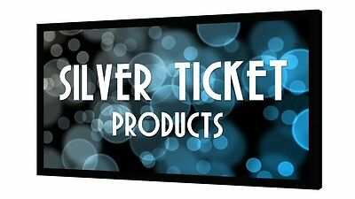 "STR-169150-G Silver Ticket 150"" Fixed Frame 16:9 Projector Screen Grey Material"