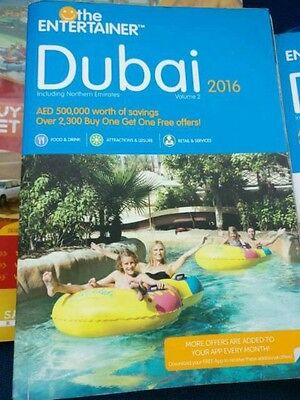 2 Sets Of DUBAI ENTERTAINER 2016 VOUCHER BOOKS- COLLECTION ONLY DUE TO WEIGHT