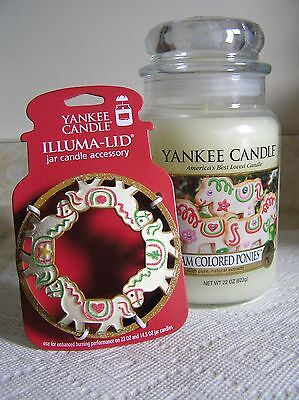 YANKEE CANDLE CREAM COLORED PONIES 22 OZ JAR WITH Illuma LID TOPPER NEW RARE
