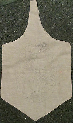 Vintage/Poss Art Deco/1940`s to Embroider~ Shopping Bag~Crinoline Lady~Very Rare