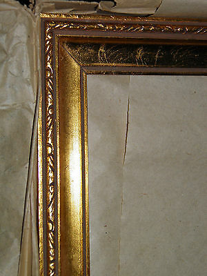 """Antique Gold Leaf Gilded Wood Picture Frames Set [Qty 3] 10""""x13"""" Still in Boxes"""