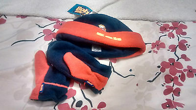 Brand New - Boys Hat And Mitten Set -  Bob The Builder - 3-6 Yrs